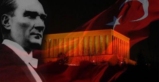 ATATÜRK'ÜN 76'NCI ÖLÜM YILDÖNÜMÜ DOLAYISIYLA MESAJ YAYIMLADI
