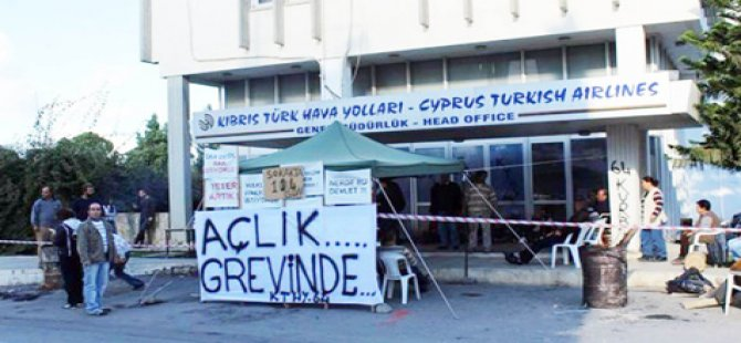 EMEKÇİLER AÇLIK GREVİNDE