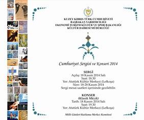 """CUMHURİYET SERGİSİ VE KONSERİ 2014"" YARIN AKM'DE"