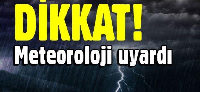YAĞMUR VE FIRTINAYA DİKKAT!