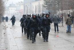 KOSOVA'DAKİ PROTESTO