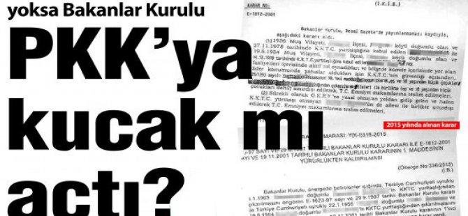 KKTC'DE SKANDAL ''PKK'' BİLMECESİ!