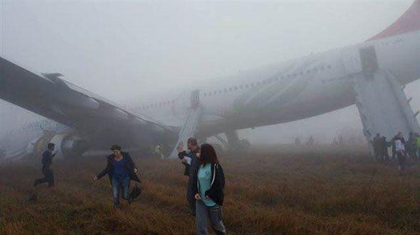 THY uçağında dehşet anları