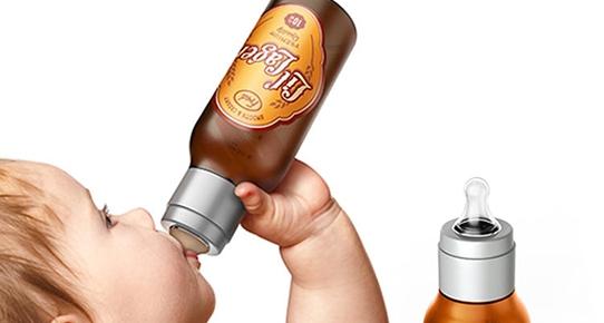 Bebeğe bira biberon mu?