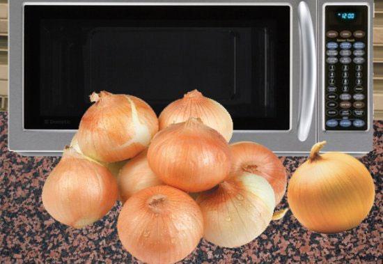 Soğanı mikrodalgaya koyarsanız ne olur?
