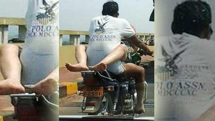 Yok artık! Motosikletle giderken...