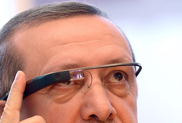 """GOOGLE GLASS""I TEST ETTİ"