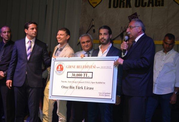 GİRNE BELEDİYESİ'NDEN, ŞAMPİYON TOL'A 30 BİN TL KATKI