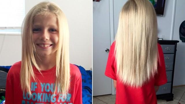 8 yaşındaki erkek çocuğu saçlarını uzatma nedeni sizi çok etkileyecek!