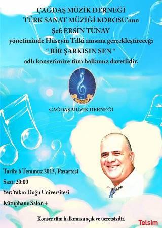 """TİLKİ ANISINA """"BİR ŞARKISIN SEN"""" KONSERİ"""