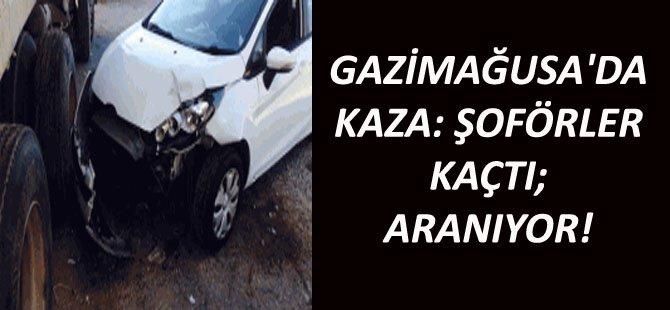 GAZİMAĞUSA'DA KAZA: ŞOFÖRLER KAÇTI; ARANIYOR!