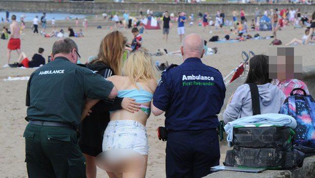 Plajı birbirine kattılar: Kimi uyuşturucu aldı, kimi seks yaptı