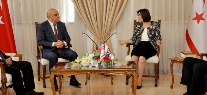 SİBER AZERBAYCAN-TÜRKİYE İŞADAMLARI BİRLİĞİ HEYETİNİ KABUL ETTİ