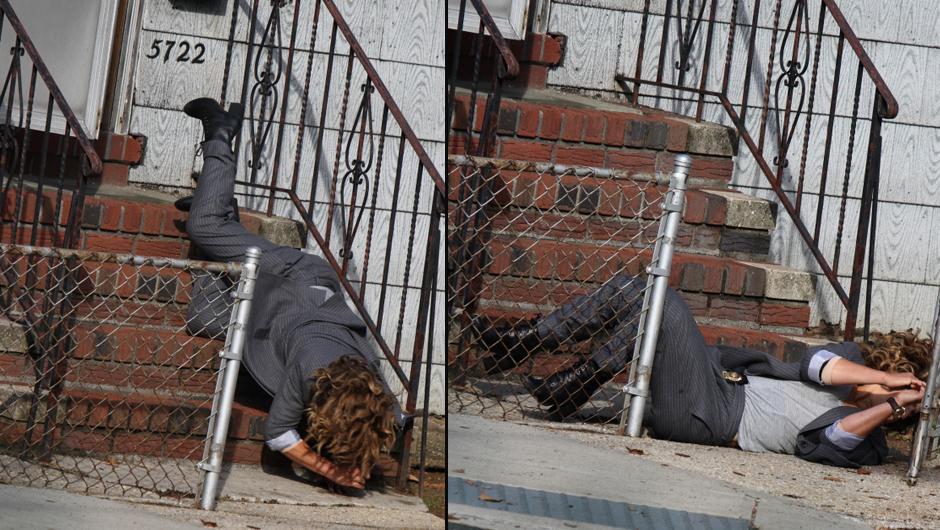 Jennifer Lopez Merdivenlerden Yuvarlandı