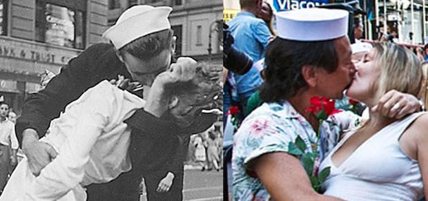 70 Yıl Sonra Aynı Öpüşme