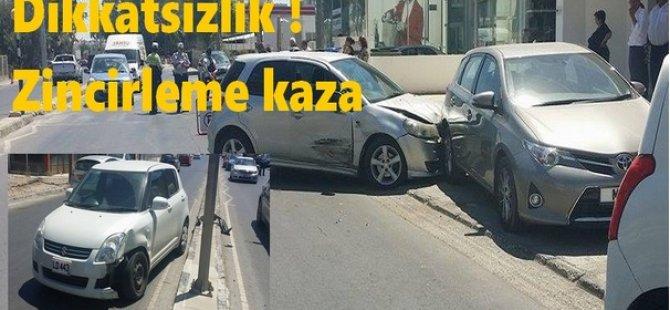 BAŞKENTTE ZİNCİRLEME KAZA!