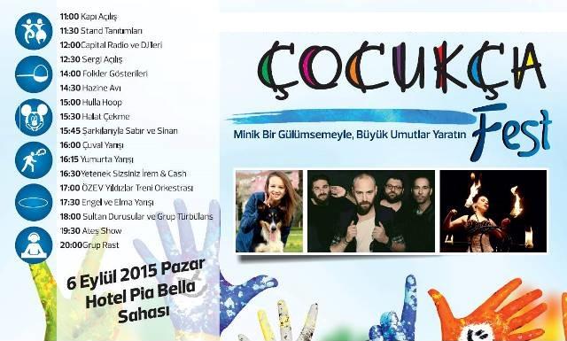 """""""ÇOCUKÇA FEST"""" ADIYLA ETKİNLİK"""