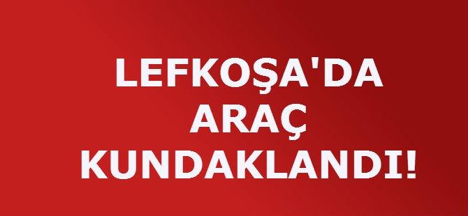 LEFKOŞA'DA ARAÇ KUNDAKLANDI!