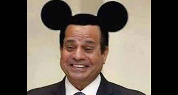 Mickey Mouse kulaklı Sisi fotoğrafına 3 yıl hapis