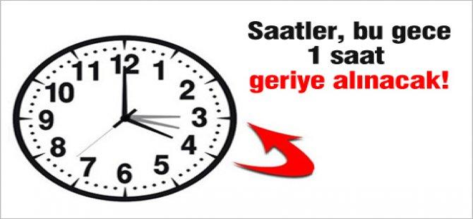 SAATLER 1 SAAT GERİ ALINACAK