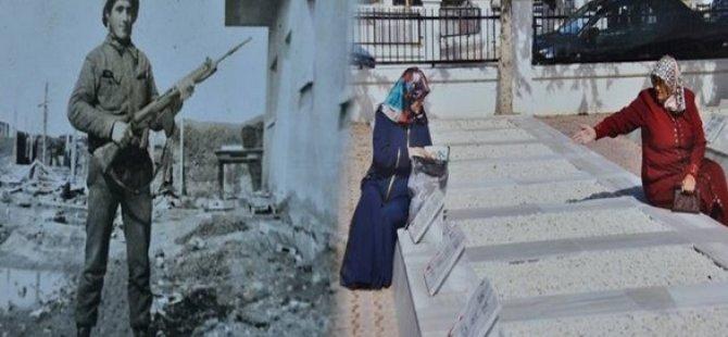 KIBRIS'TA ŞEHİT OLAN ABİLERİNE KAVUŞTULAR