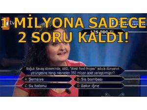 'BAKIR İĞNE' KAZANDIRDI! 1 MİLYONA SADECE 2 SORU...