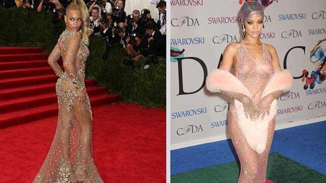 Giyinmeyi unutan en güzel ünlüler
