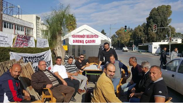 """SDP DİRENİŞ ÇADIRI""""NI ZİYARET ETTİ"""