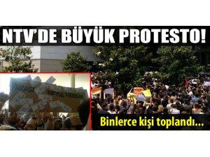 NTV'DE BÜYÜK PROTESTO!