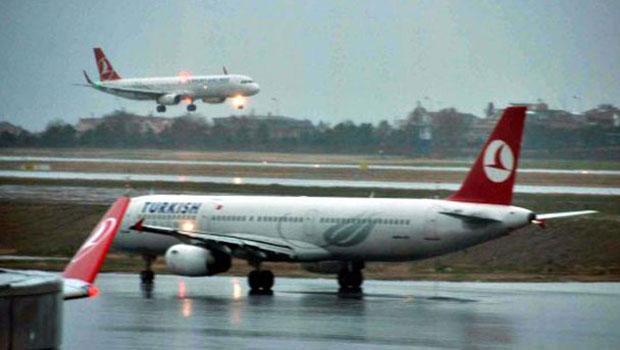 Hava ulaşımına fırtına engeli: 246 sefer iptal