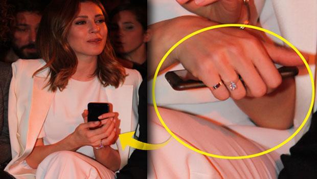 Sinem Kobal'ın evlilik yüzüğü