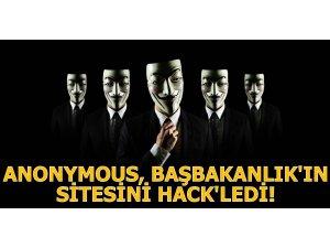 ANONYMOUS BAŞBAKANLIK'IN SİTESİNİ HACK'LEDİ!