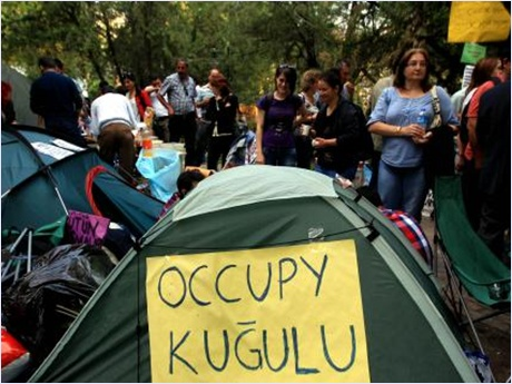 POLİS ANKARA KUĞULU PARK'TAKİ ÇADIRLARI KALDIRTTI