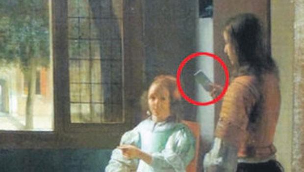 350 yıllık tablodaki iPhone şaşkına çevirdi!