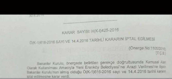 YENİ ERENKÖY'E BİR DARBE DAHA!