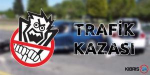 DİPKARPAZDA TRAFİK  KAZASI