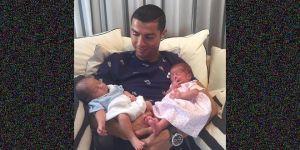 Cristiano Ronaldo'nun ikizleri oldu