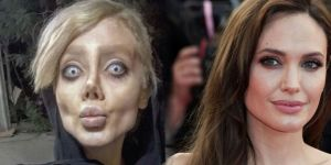 Her şey Angelina Jolie'ye benzemek için!