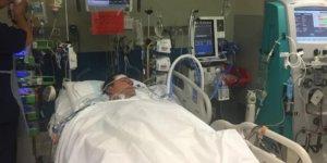 Bacağından kaptı, organlarını yemeye başladı!
