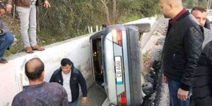 CİKLOS'TA KORKUTAN KAZA!