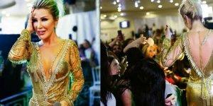 Seda Sayan'ın elbisesi sahnede parçalandı!