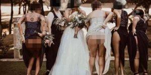 Düğünde şaşkına çeviren kare!