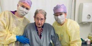 101 yaşındaki hasta corona virüsünü yendi