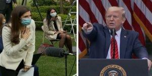 ABD'li gazeteciden Donald Trump'a kürsüyü terk ettiren koronavirüs sorusu