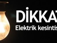 YARIN 09.00 - 14.00 SAATLERİ ARASI ELEKTRİK YOK