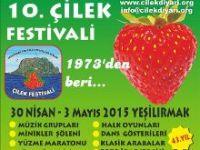 10. ÇİLEK FESTİVALİ 30 NİSAN-3 MAYIS'TA YAPILYOR