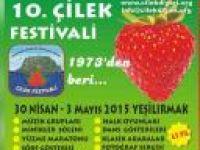 """ÇİLEK FESTİVALİ"""" 30 NİSAN-3 MAYIS ARASINDA"""