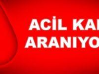 ACİL 0 RH+ KAN ARANIYOR!