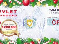 DEVLET PİYANGOSU'NUN YILBAŞI BÜYÜK İKRAMİYESİ 1 MİLYON TL