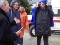 KALYONCU, GİRNE'DE SEL BÖLGELERİNİ ZİYARET ETTİ